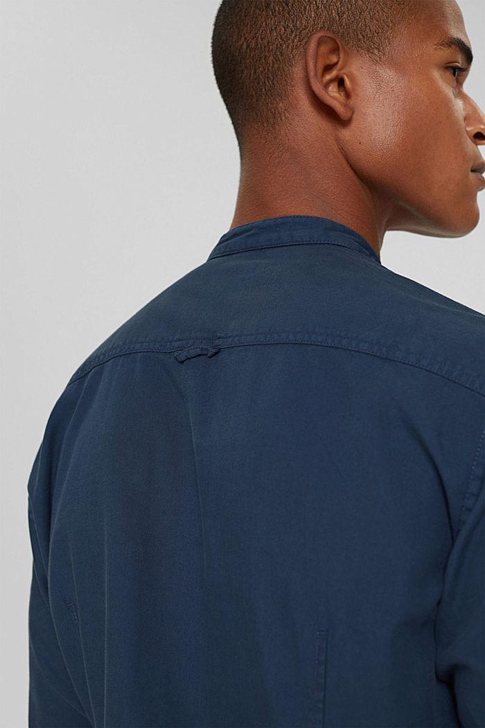 Denim-look shirt, organic cotton, NAVY, detail image number 5