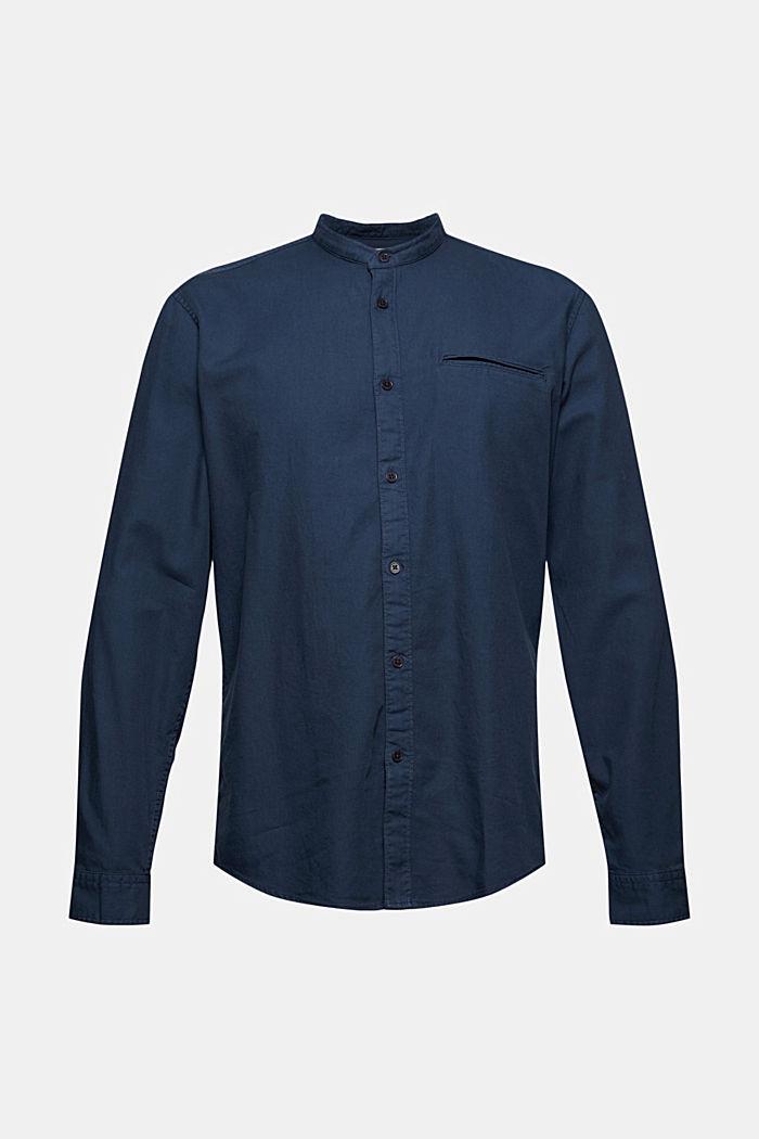 Denim-look shirt, organic cotton, NAVY, detail image number 7