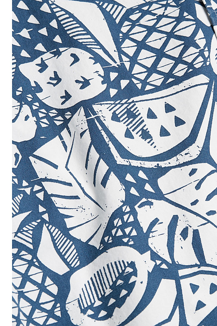 Short-sleeved shirt with print, organic cotton, BLUE, detail image number 4