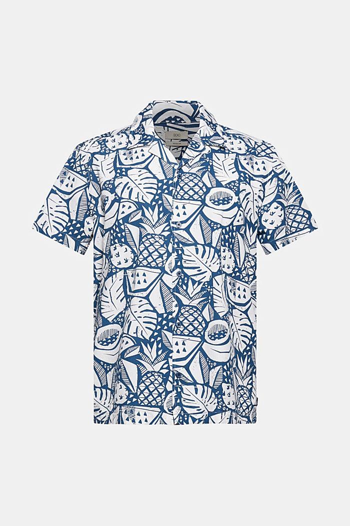 Chemise à manches courtes à imprimé, coton biologique