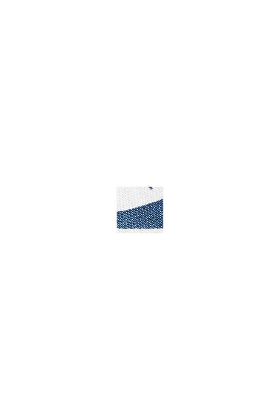 Overhemd met korte mouwen en print, biologisch katoen, BLUE, swatch