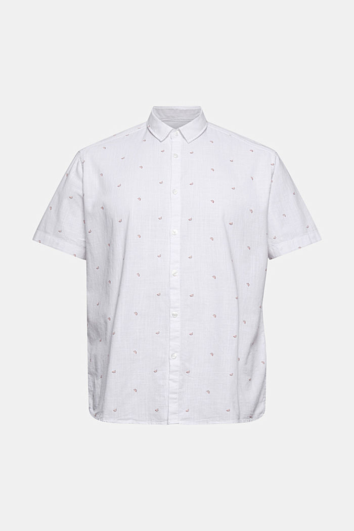 Short-sleeved shirt with print, organic cotton, WHITE, detail image number 6