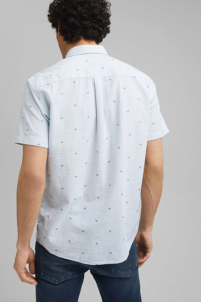 Short-sleeved shirt with print, organic cotton, LIGHT BLUE, detail image number 3