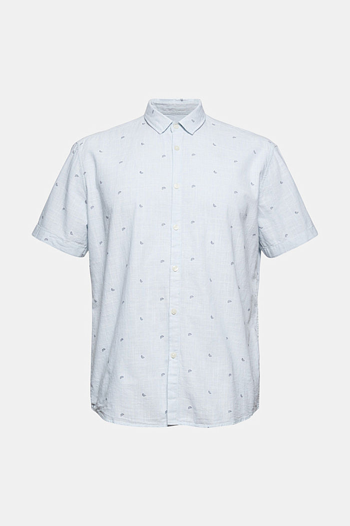 Short-sleeved shirt with print, organic cotton, LIGHT BLUE, detail image number 6
