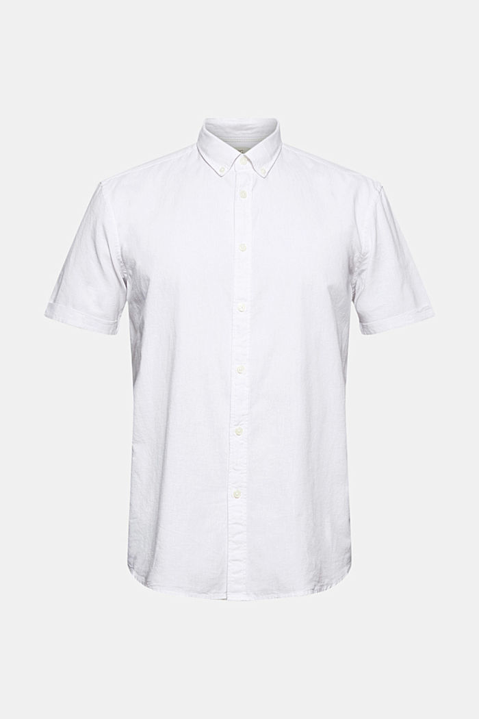 Organic cotton/linen: short sleeve shirt