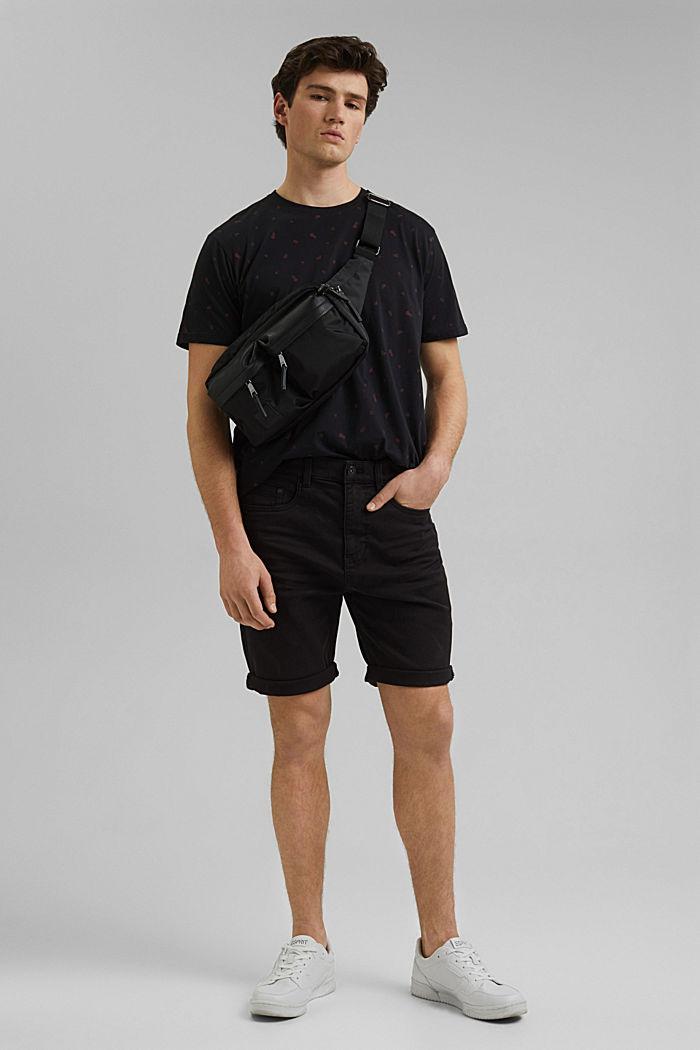 Camiseta con estampado, 100 % algodón ecológico, BLACK, detail image number 2