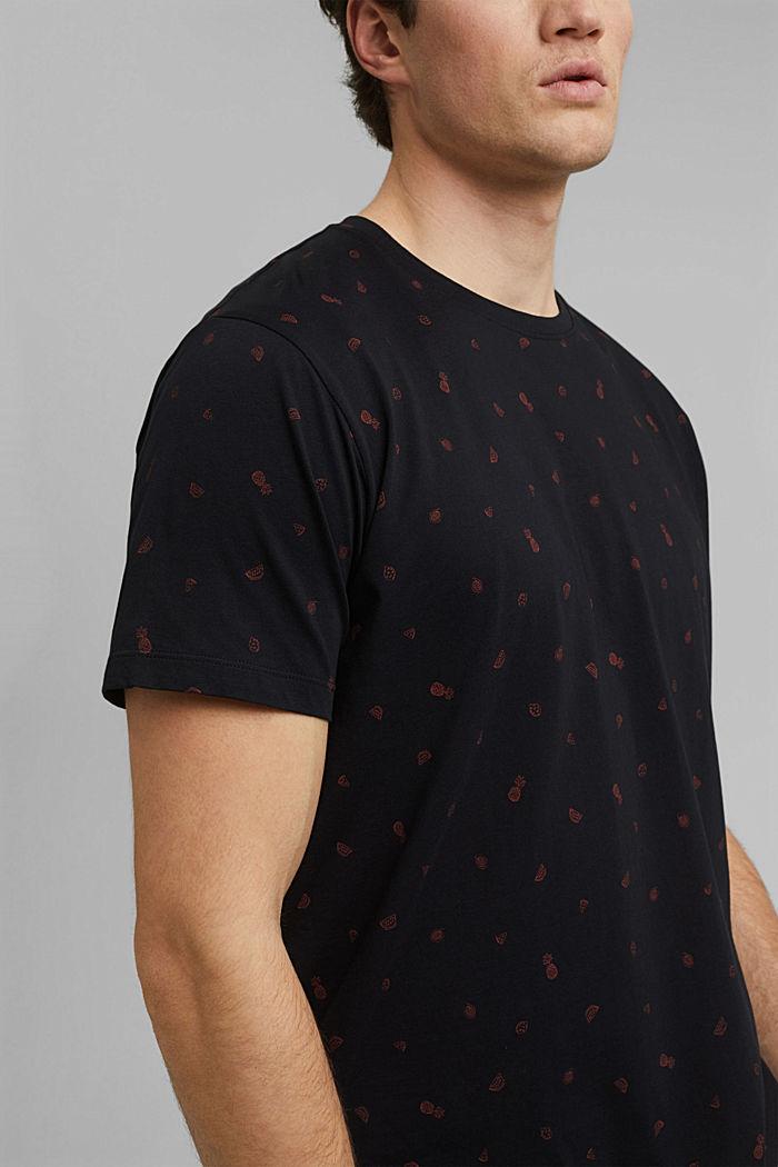 Camiseta con estampado, 100 % algodón ecológico, BLACK, detail image number 1