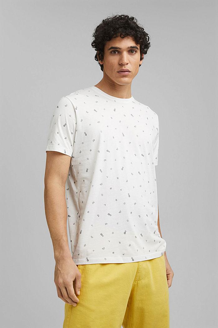 T-Shirt mit Print, 100% Organic Cotton, OFF WHITE, detail image number 0