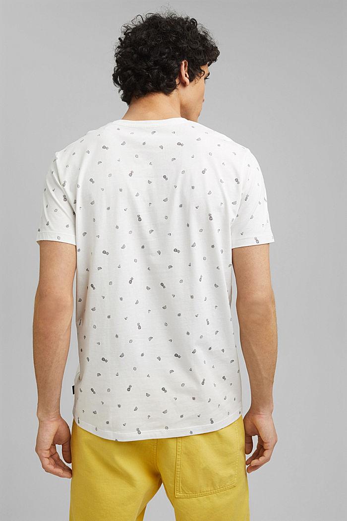 T-Shirt mit Print, 100% Organic Cotton, OFF WHITE, detail image number 3