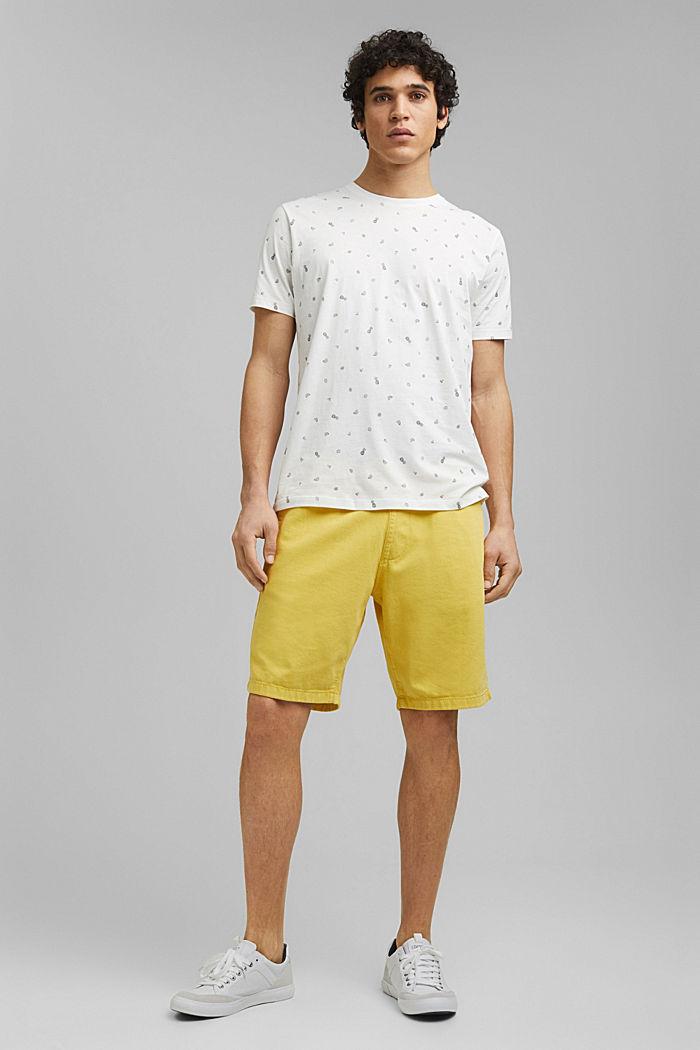 T-Shirt mit Print, 100% Organic Cotton, OFF WHITE, detail image number 5
