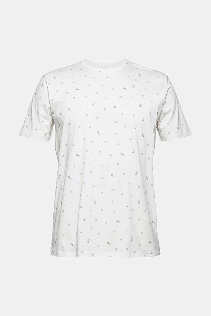 T-Shirt mit Print, 100% Organic Cotton, OFF WHITE, detail image number 6