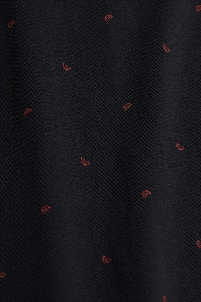 Polo en jersey à imprimé, en coton biologique, BLACK, detail image number 4