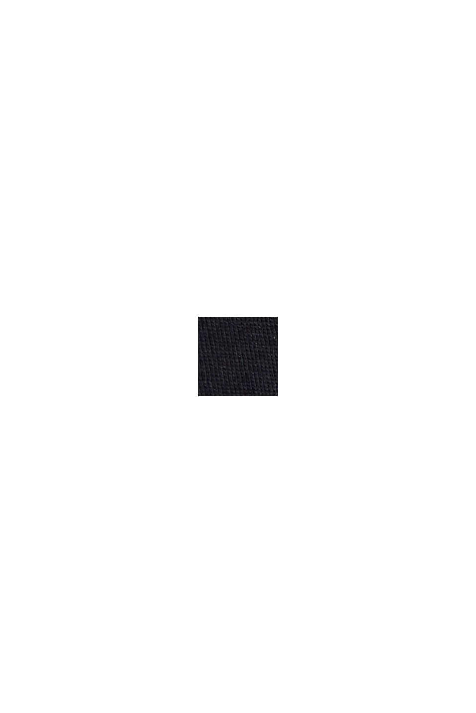 Painokuvioitu jerseypikee luomupuuvillaa, BLACK, swatch