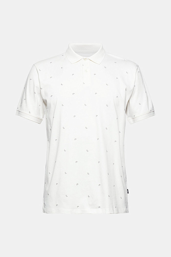 Jersey polo shirt with print, organic cotton