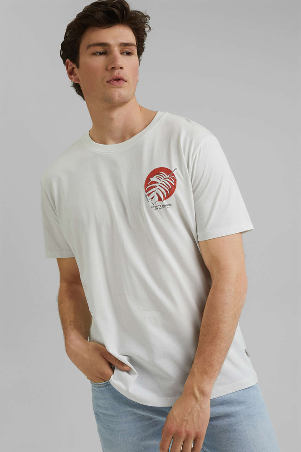 edc - Printed T-shirt, 100% organic cotton