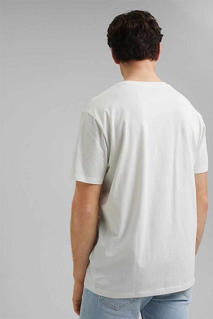 Printed T-shirt, 100% organic cotton, OFF WHITE, detail image number 3