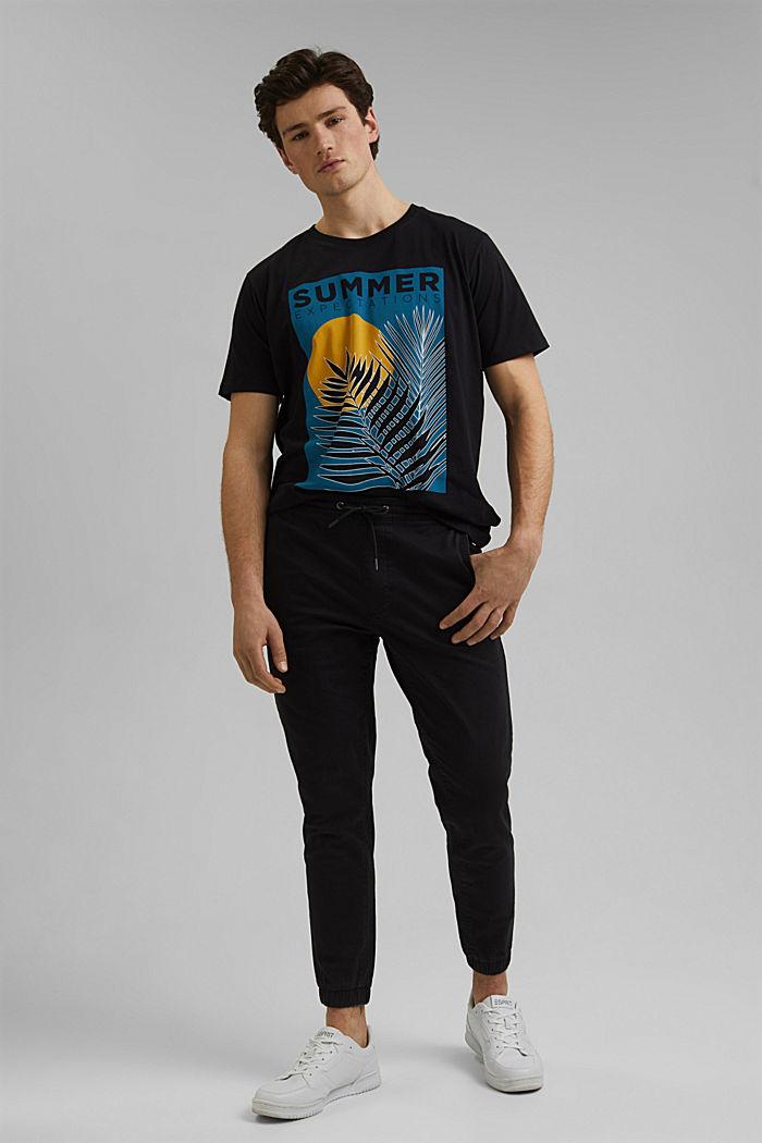 Printed T-shirt in 100% organic cotton, BLACK, detail image number 2
