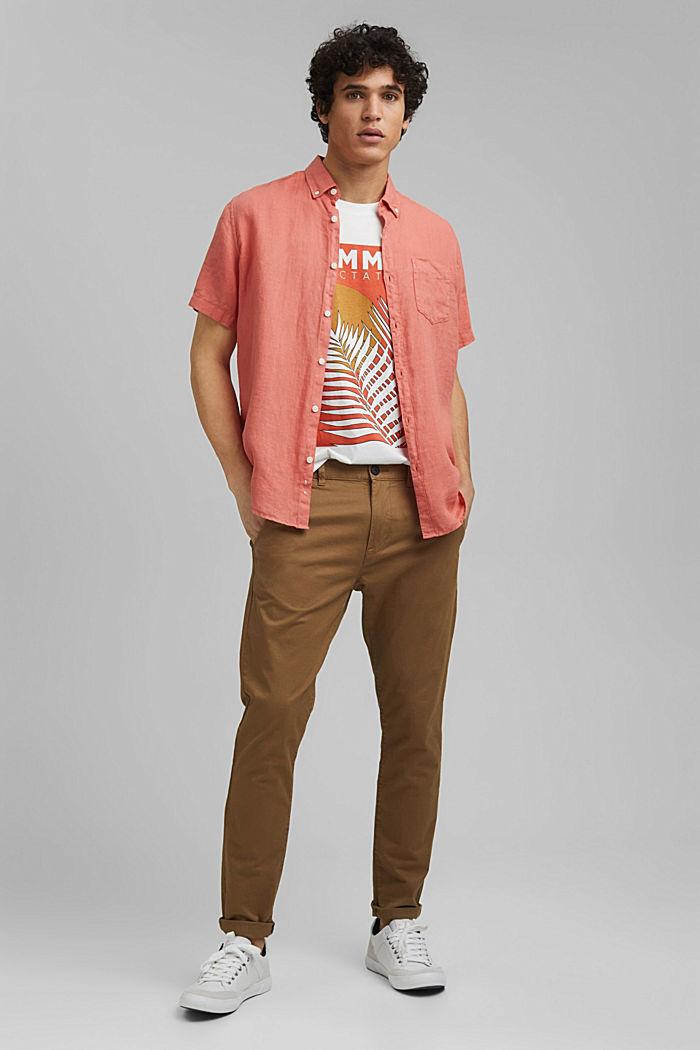 Shirt met print, van 100% organic cotton, OFF WHITE, detail image number 2