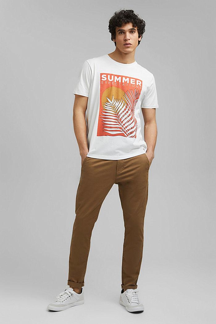 Shirt met print, van 100% organic cotton, OFF WHITE, detail image number 6