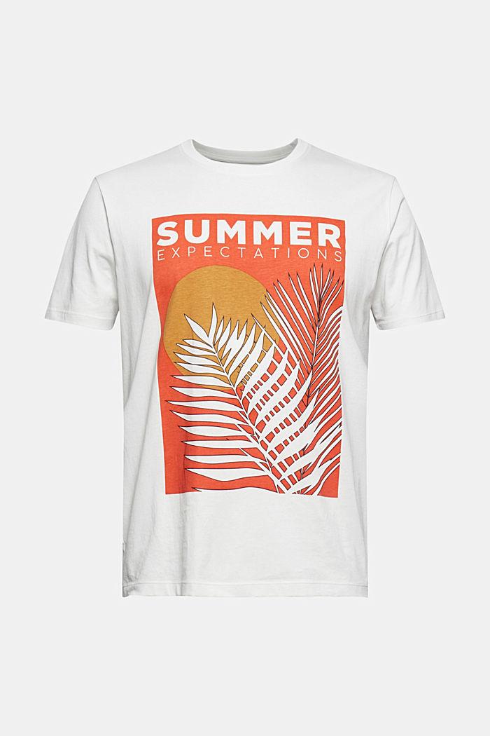 Shirt met print, van 100% organic cotton, OFF WHITE, detail image number 7