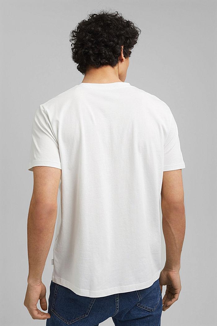 Haut à imprimé 100 % coton bio, OFF WHITE, detail image number 3