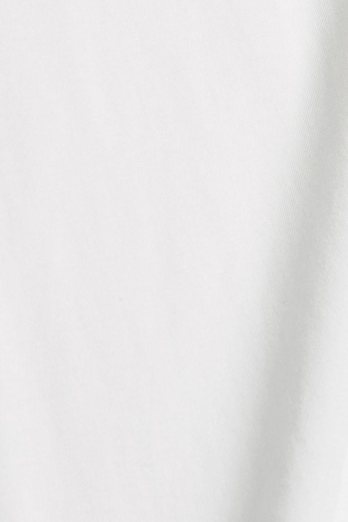 Haut à imprimé 100 % coton bio, OFF WHITE, detail image number 4