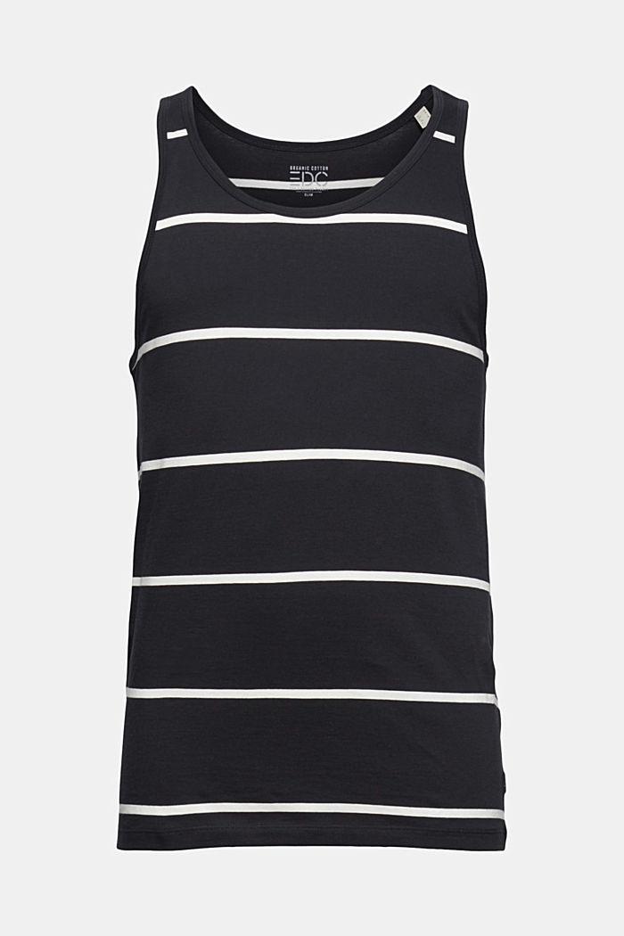 Jersey sleeveless top, 100% organic cotton, BLACK, detail image number 5