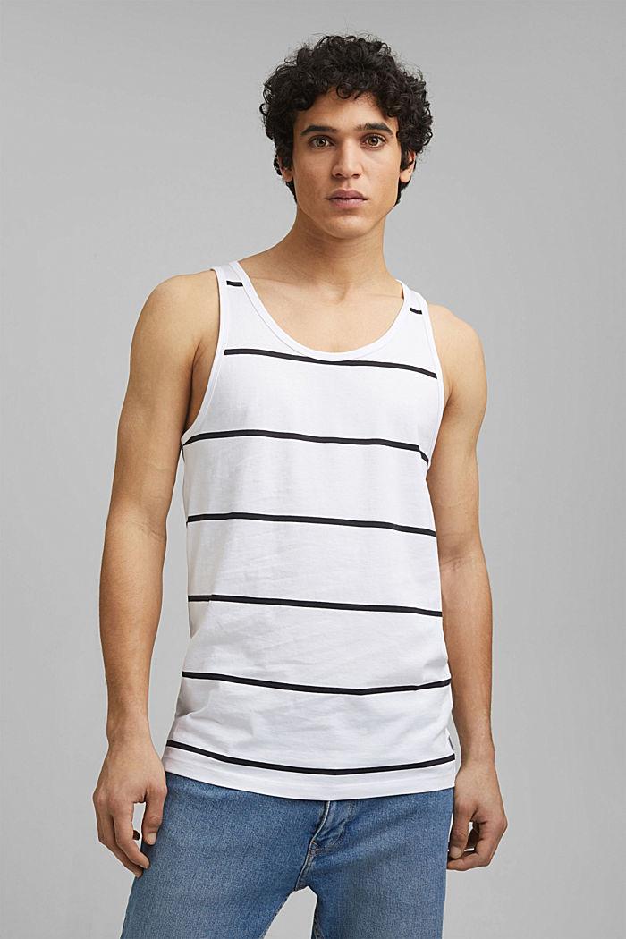 Jersey-Tanktop, 100% Organic Cotton, WHITE, detail image number 0