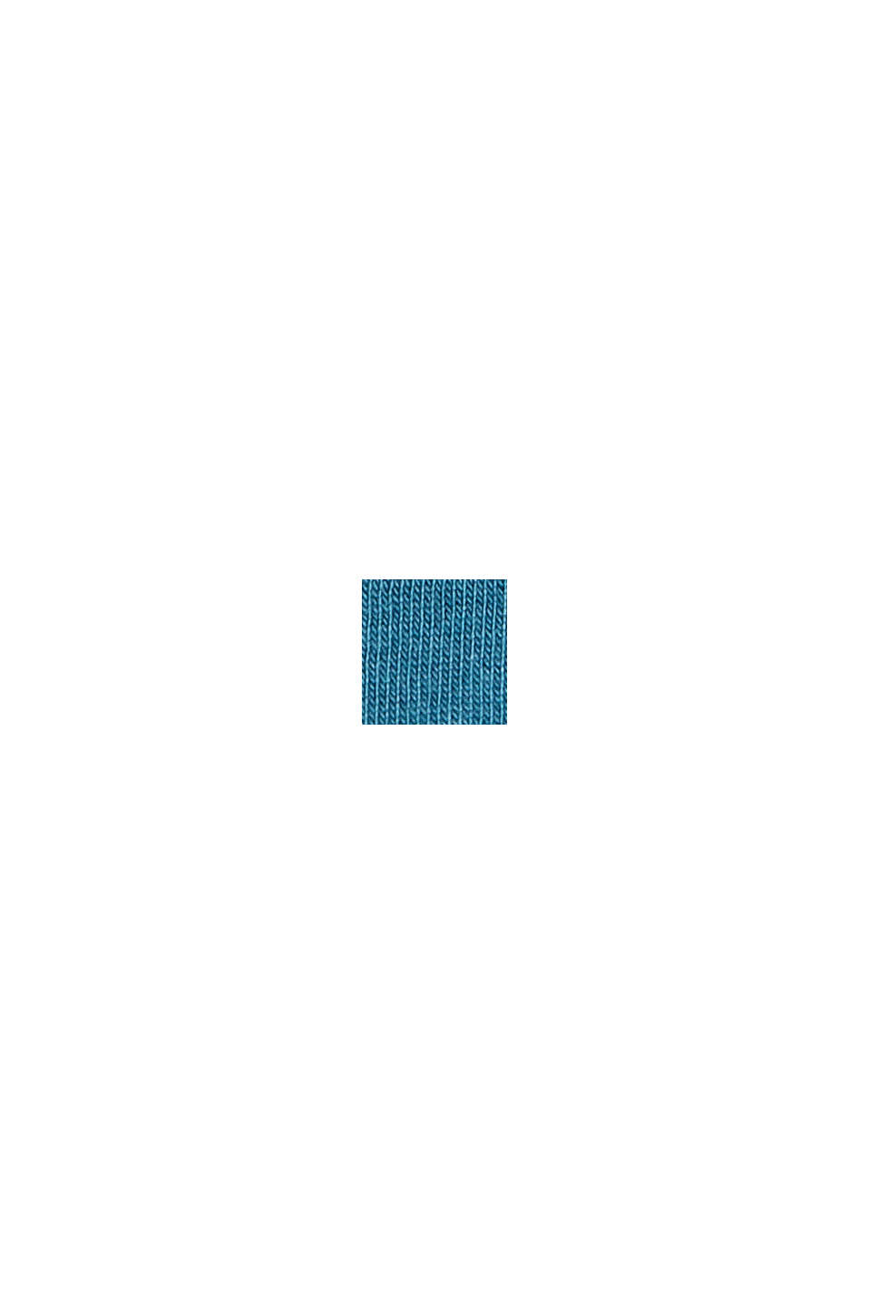 Jersey sleeveless top, 100% organic cotton, PETROL BLUE, swatch