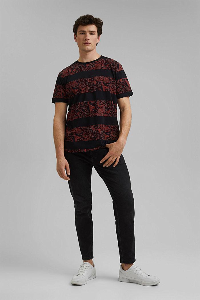 Koszulka z nadrukiem z 100% bawełny ekologicznej, BLACK, detail image number 2