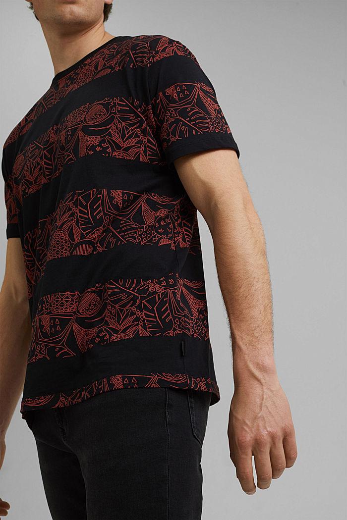 Koszulka z nadrukiem z 100% bawełny ekologicznej, BLACK, detail image number 1