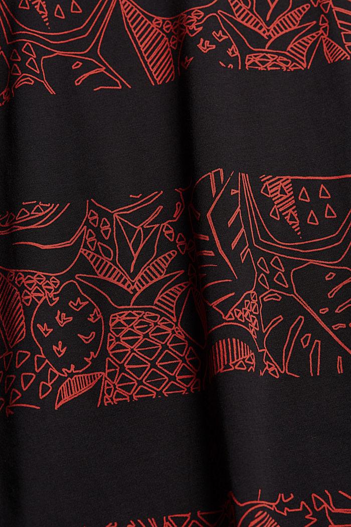 Koszulka z nadrukiem z 100% bawełny ekologicznej, BLACK, detail image number 5