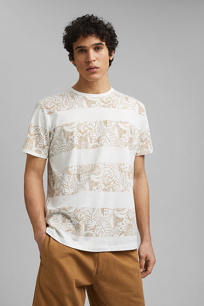 Shirt met print, van 100% organic cotton, OFF WHITE, detail image number 0