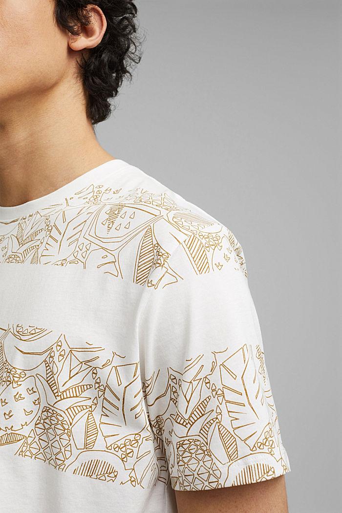 Shirt met print, van 100% organic cotton, OFF WHITE, detail image number 1