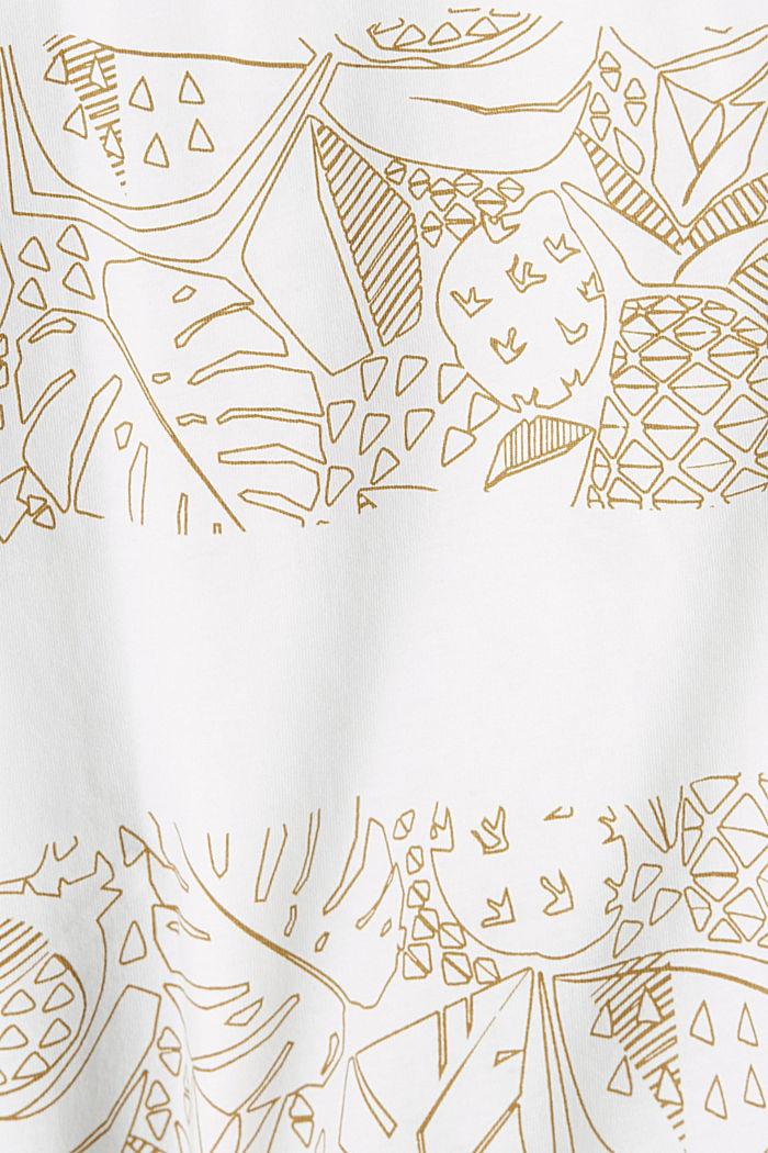 Shirt met print, van 100% organic cotton, OFF WHITE, detail image number 4