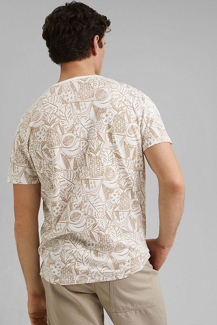 Print-Shirt aus 100% Organic Cotton, OFF WHITE, detail image number 3