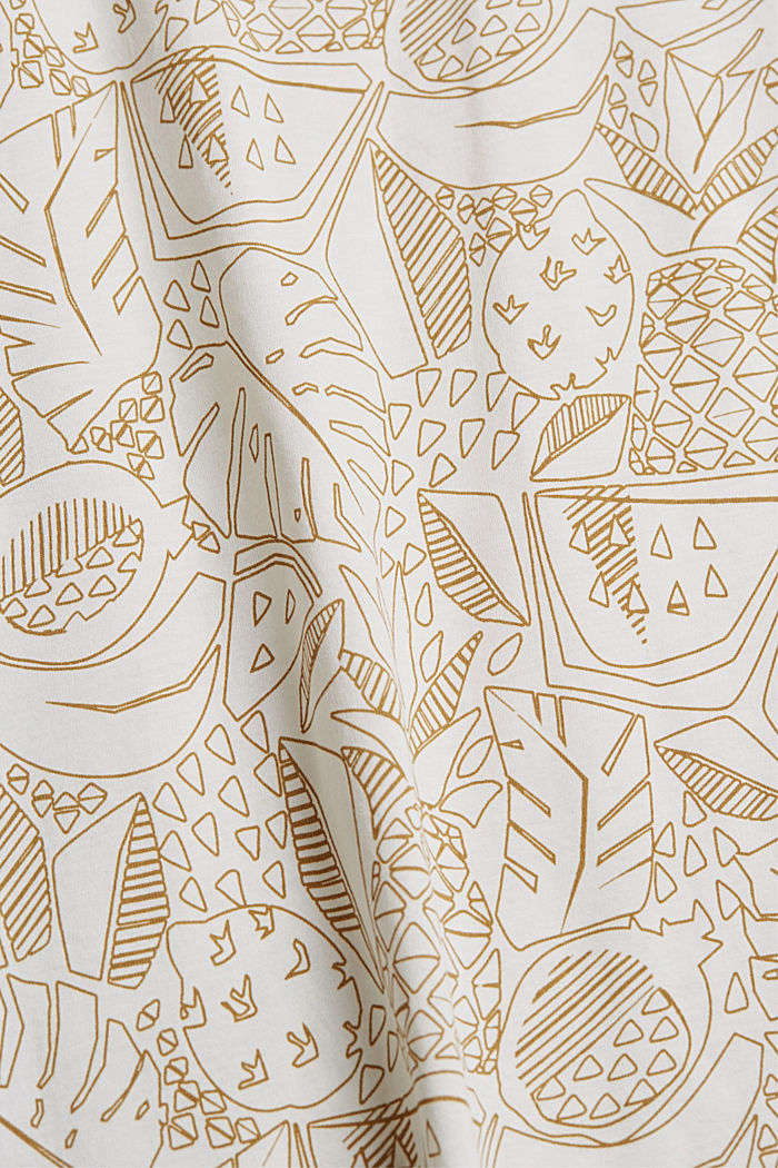 Print-Shirt aus 100% Organic Cotton, OFF WHITE, detail image number 4