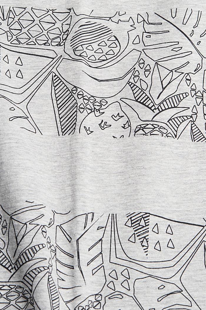 Print-Shirt mit Organic Cotton, LIGHT GREY, detail image number 4