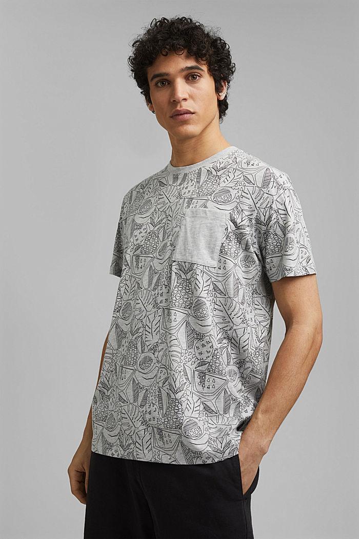 Shirt met print en organic cotton, LIGHT GREY, detail image number 0