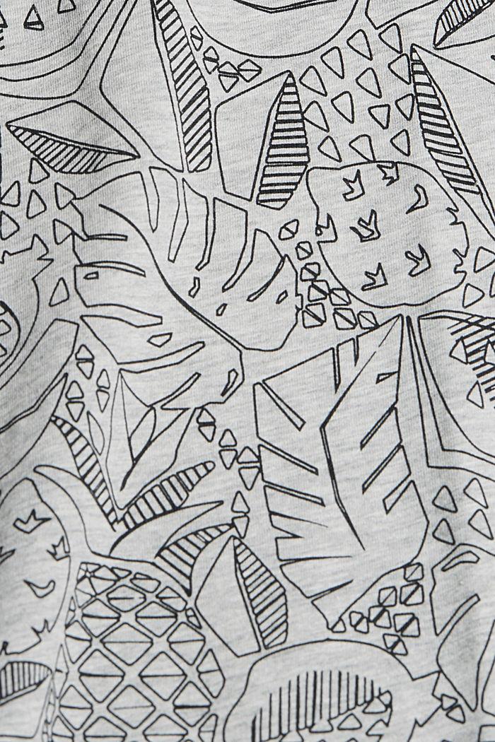 Shirt met print en organic cotton, LIGHT GREY, detail image number 4