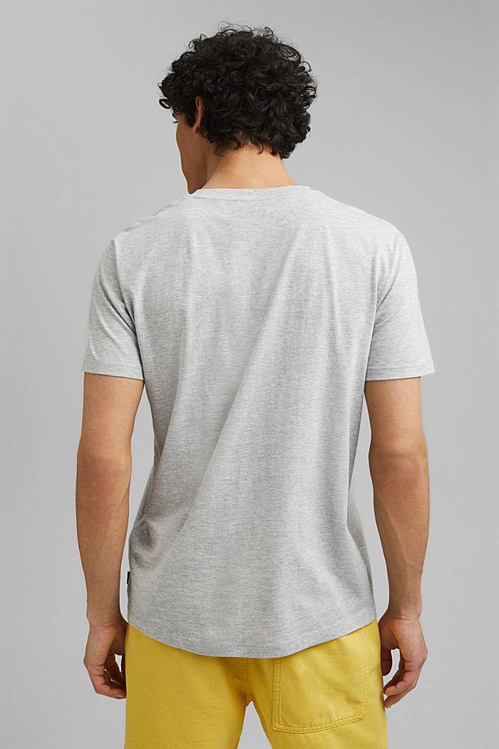 Shirt met print en organic cotton, LIGHT GREY, detail image number 3