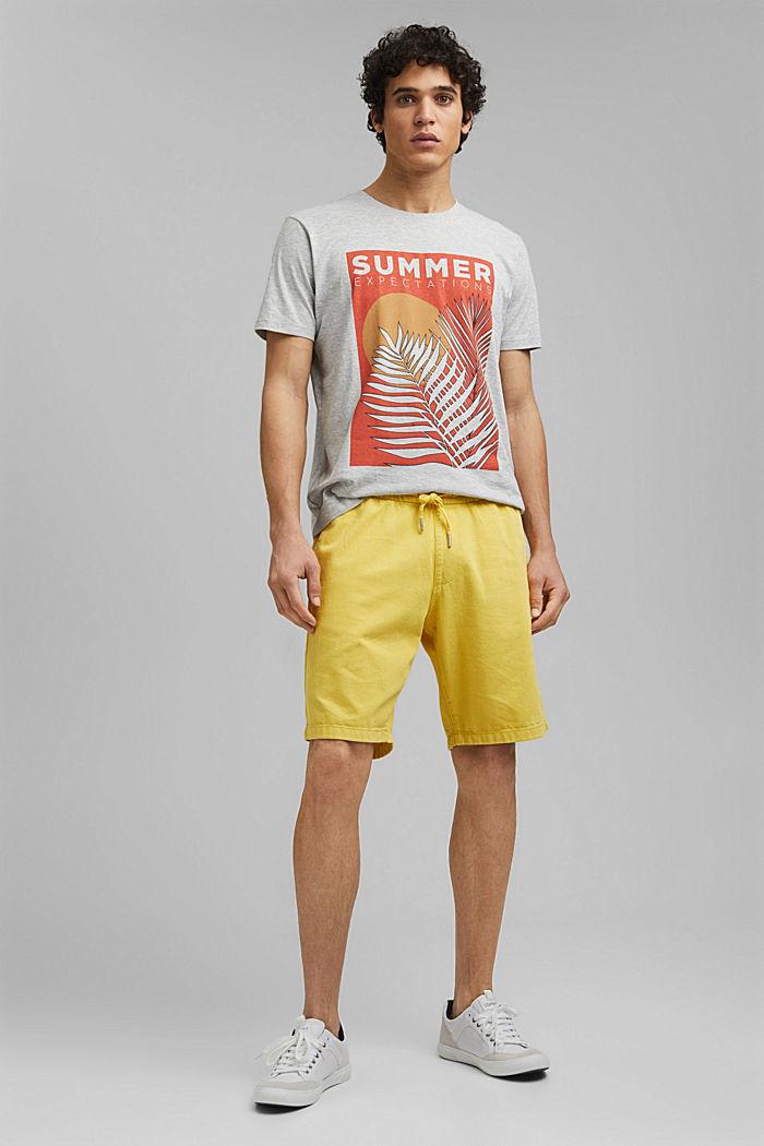 Shirt met print en organic cotton, LIGHT GREY, detail image number 6