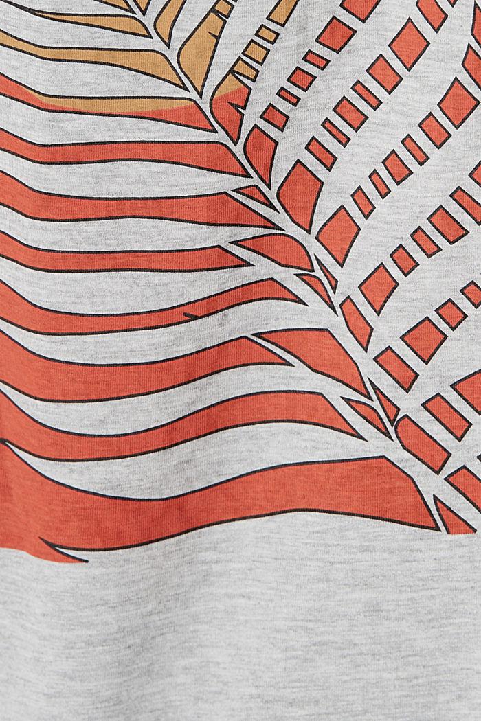 Shirt met print en organic cotton, LIGHT GREY, detail image number 5