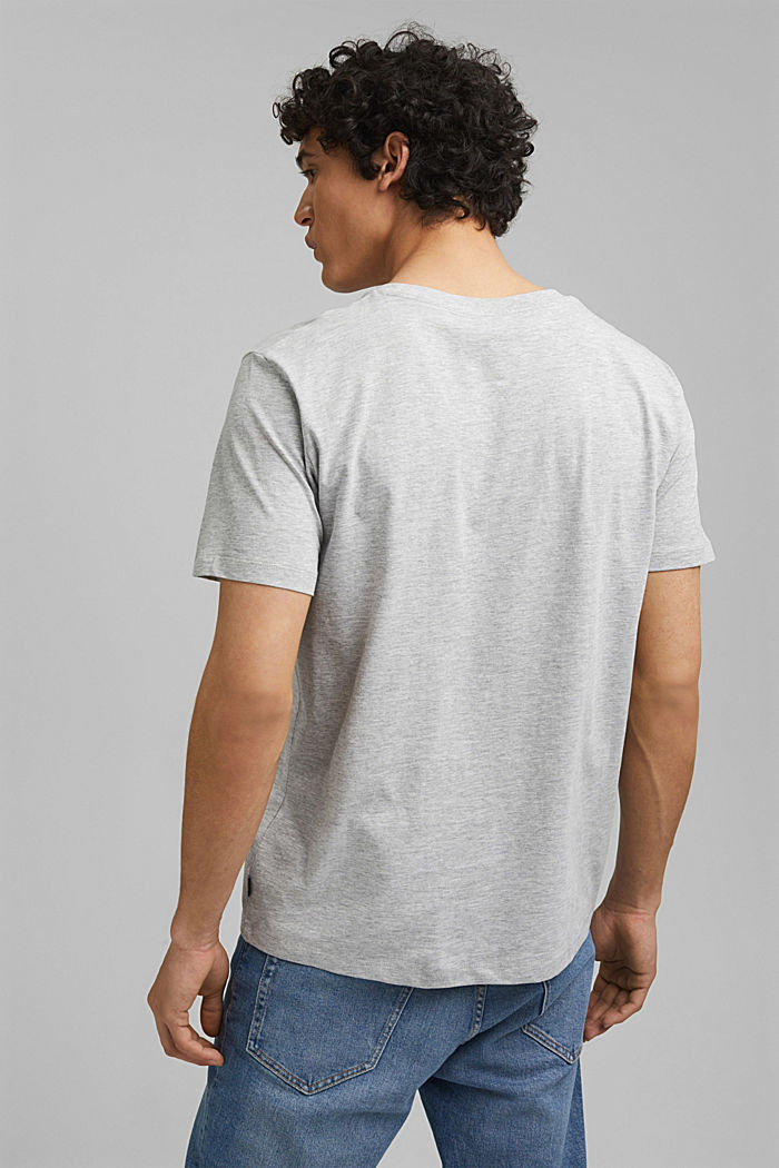 Print t-shirt with organic cotton, LIGHT GREY, detail image number 3