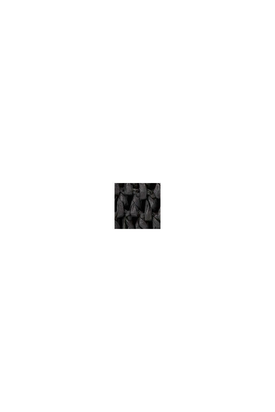 Clutch af FSC™-certificeret bast, BLACK, swatch