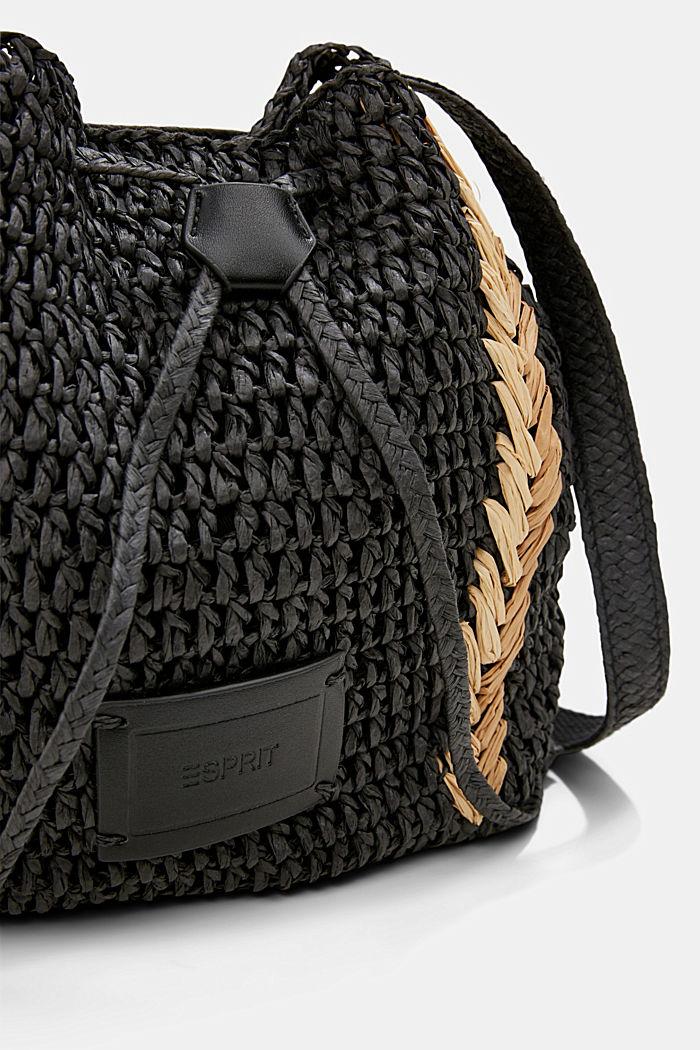 Sac seau en raphia certifié FSC™, BLACK, detail image number 2