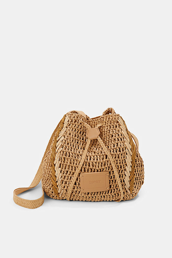 Bucket bag made of FSC™-certified bast