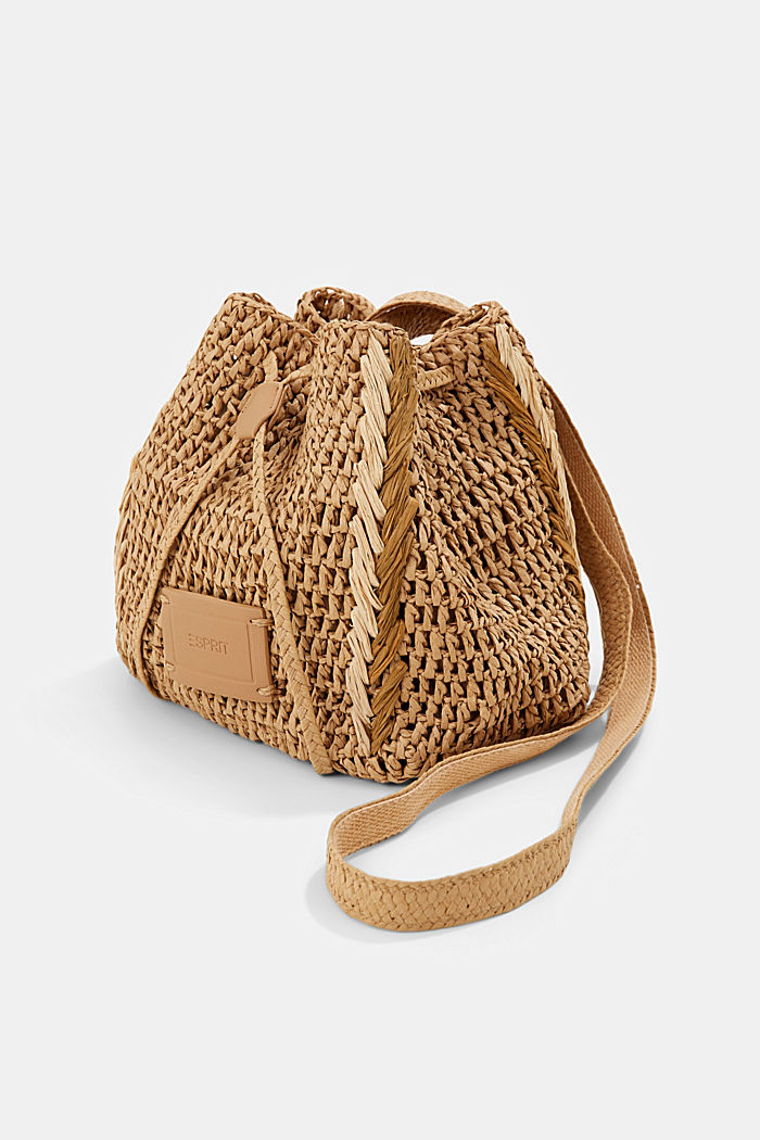 Bucket bag made of FSC™-certified bast, CAMEL, detail image number 2