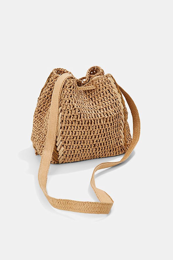 Bucket bag made of FSC™-certified bast, CAMEL, detail image number 5