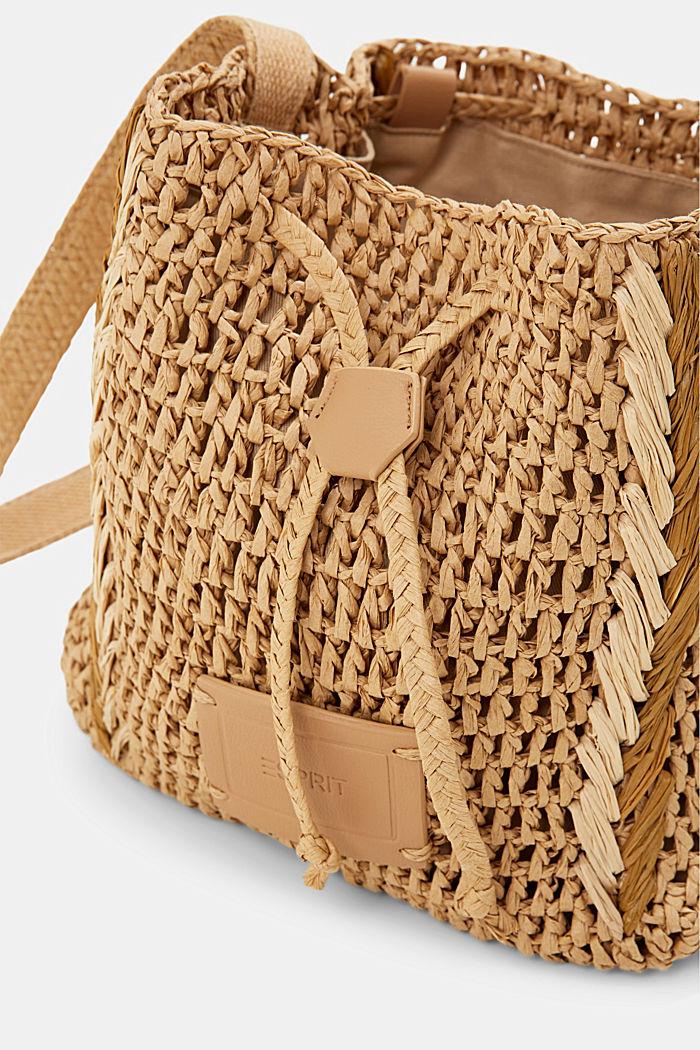Bucket bag made of FSC™-certified bast, CAMEL, detail image number 6